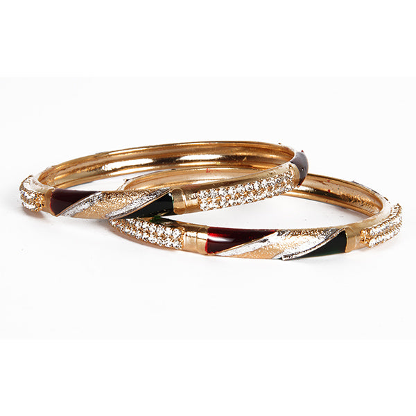 Kriaa Meenakari Austrian Stone Bangle Set