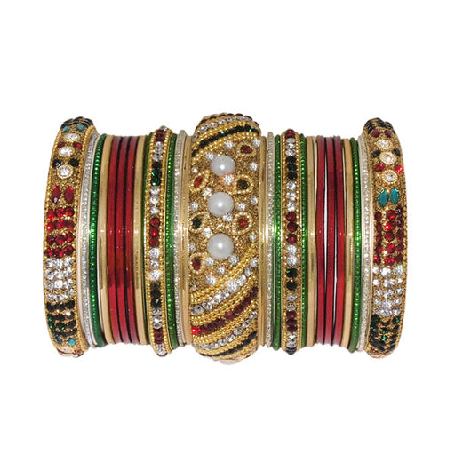Vivant Charms Gold Plated Traditional Bangle Set