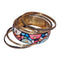 Urthn Gold Plated Multicolor Bangle Set