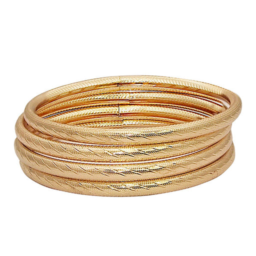 Urthn Gold Plated Bangle Set