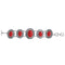 Beadside Red Beads Rhodium Plated Bracelet