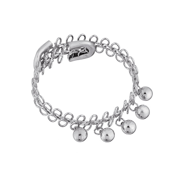 Urthn Rhodium Plated Adjustable Bracelet