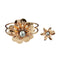 Urthn Gold Plated Pearl Floral Openable Kada With Ring