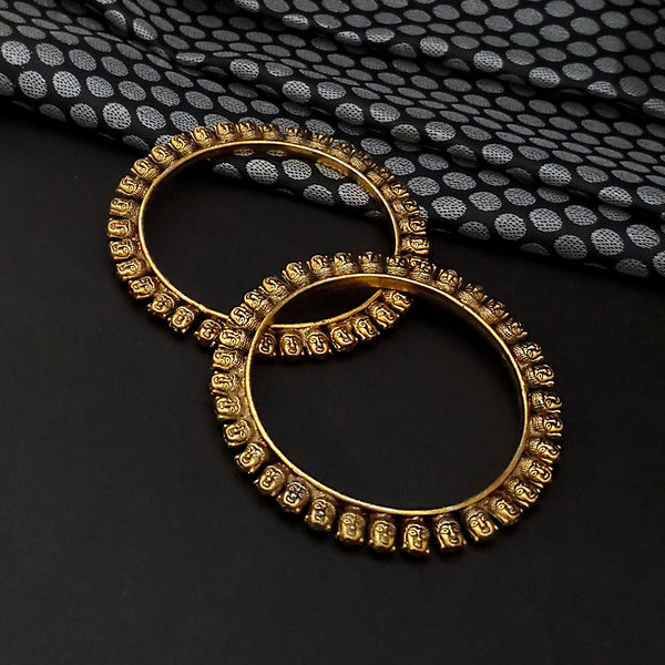 Urthn Gold  Plated Bangles Set