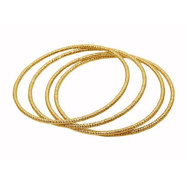Kriaa Gold Plated Bangle Set