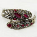 Urthn Maroon Austrian Stone Antique Gold Plated Kada