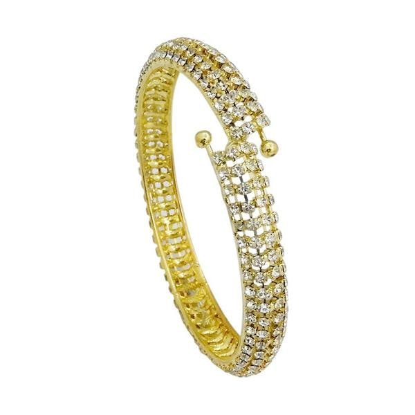 Urthn Austrian Stone Gold Plated Openable kada