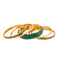 Urthn Gold Plated Green Bangle Set