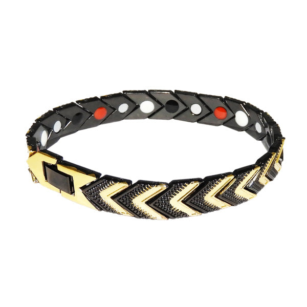 Urthn Zinc Alloy 2 Tone Plated Chain Mens Bracelet