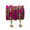 Sejal Pink Thread Austrian Stone Bangle Set