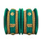 Sejal Green Thread Austrian Stone Bangle Set