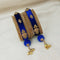 Sejal Gold Plated Blue Austrian Stone Thread Bangle Set
