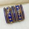 Sejal Gold Plated Blue Austrian Stone Bangle Set