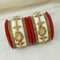 Sejal Gold Plated White Austrian Stone Bangle Set