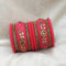Sejal Pink Color Austrian Stone Bangle Set