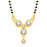 Kriaa American Diamond Gold Plated Mangalsutra