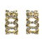 Native Haat Gold Plated Austrian Stone Stud Earrings - N1501317