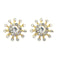 Kriaa White Austrian Stone Gold Plated Stud Earrings - 1501328 - AS