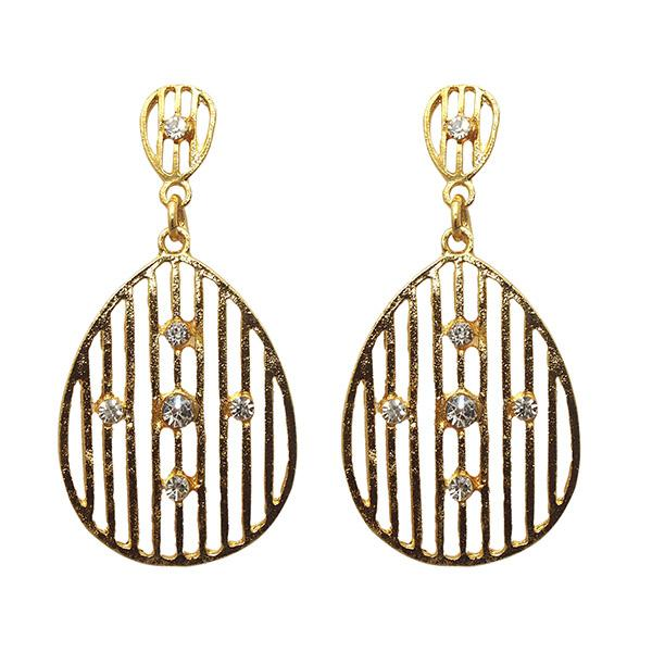 Kriaa Gold Plated Austrian Stone Dangler Earrings - 1501329 - AS