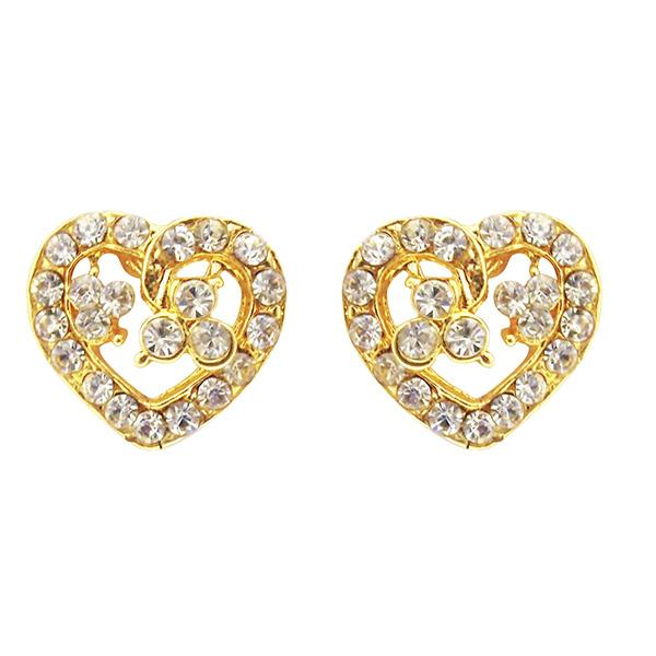 Kriaa Gold Plated Austrian Stone Stud Earrings - 1501332 - AS