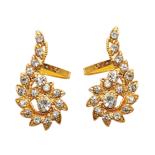 Kriaa Gold Plated Austrian Stone Ear Cuff Earrings