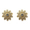 Kriaa Gold Plated Austrian Stone Stud Earrings - 1501349 - AS
