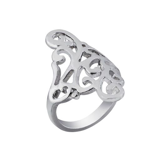 Urthn Zinc Alloy Rhodium Plated Ring