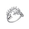 Urthn Leaf Design Rhodium Plated Ring