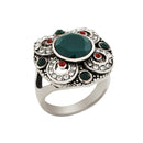 Urthn Rhodium Plated Austrian Stone Ring