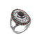 Urthn Resin Stone Rhodium Plated Ring