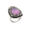 Urthn Rhodium Plated Purple Stone Ring