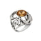 Urthn Brown Stone Silver Plated Ring