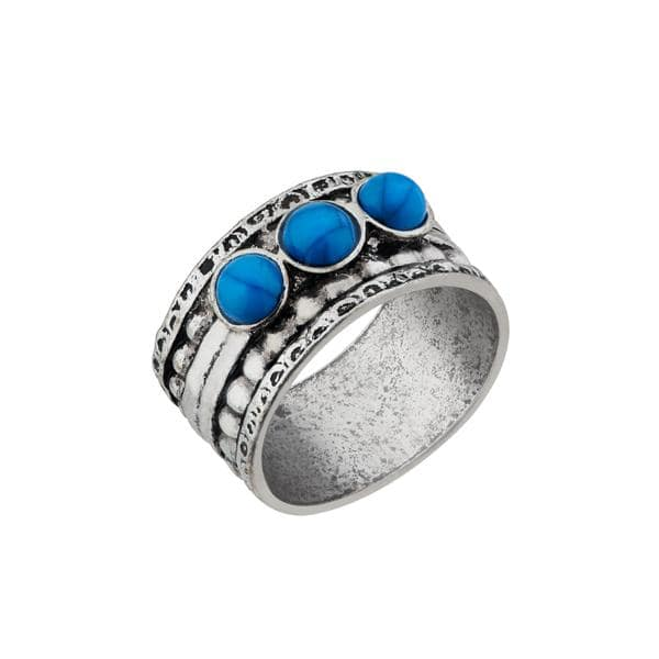 Urthn Gems Stone Rhodium Plated Ring