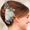 Apurva Pearls Floral Design Pearl Stone Silver Plated Hair Brooch