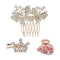 Apurva Pearls Austrian Stone Gold Plated  Hair Brooch With Clip