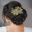 Apurva Pearls Gold Plated Austrian Stone Floral Hair Brooch
