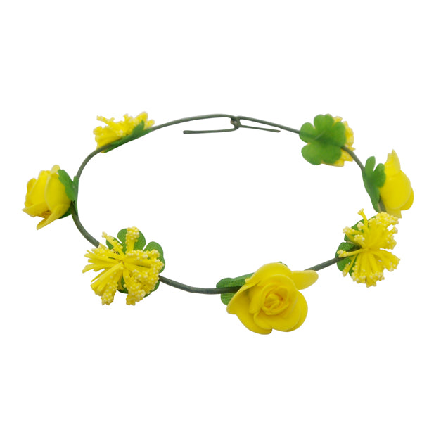 Urthn Yellow Rose Tiara Flower Crown