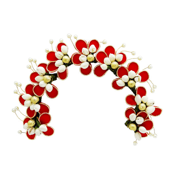 Apurva Pearls Floral Design Pearl Hair Brooch