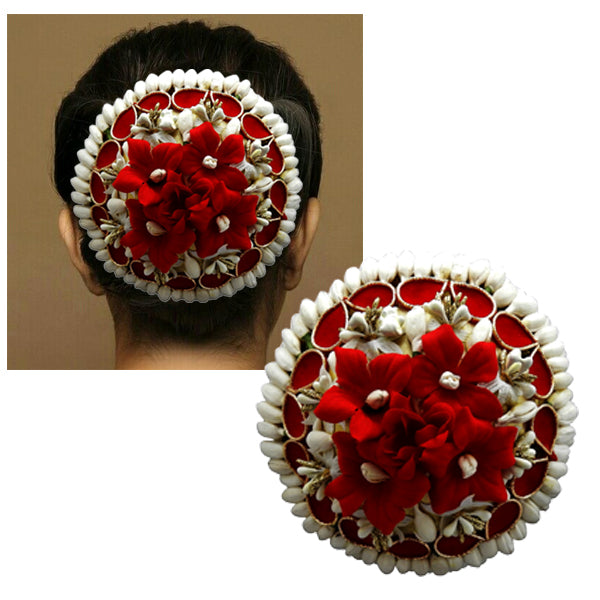 Apurva Pearls Zinc Alloy Floral Design Hair Brooch