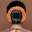Apurva Pearls Austrian Stone Orange Floral Hair Brooch