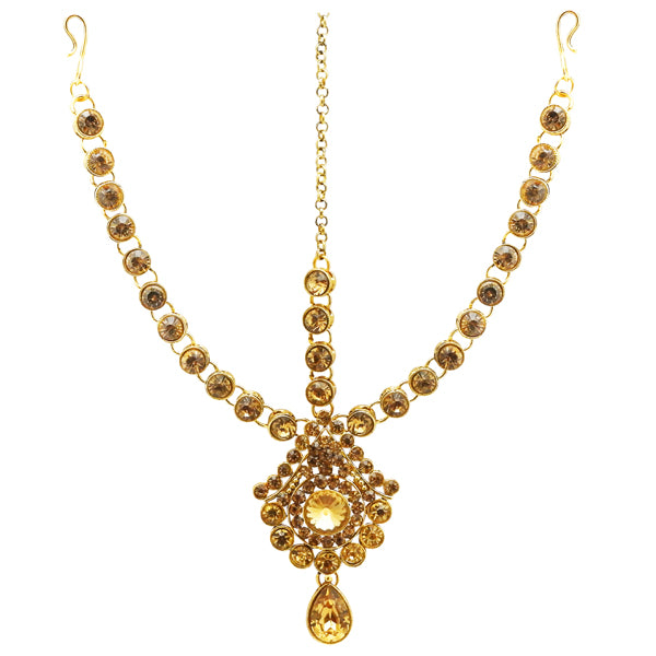 Soha Gold Plated Gold Plated Austrian Stone Maang Tikka
