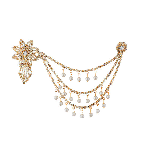 Apurva Pearls Pearl Austrian Stone Gold Plated Pasa