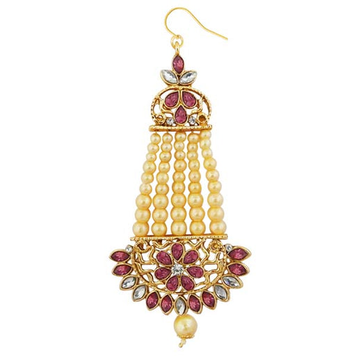 Kriaa Gold Plated Purple Kundan And Stone Pasa