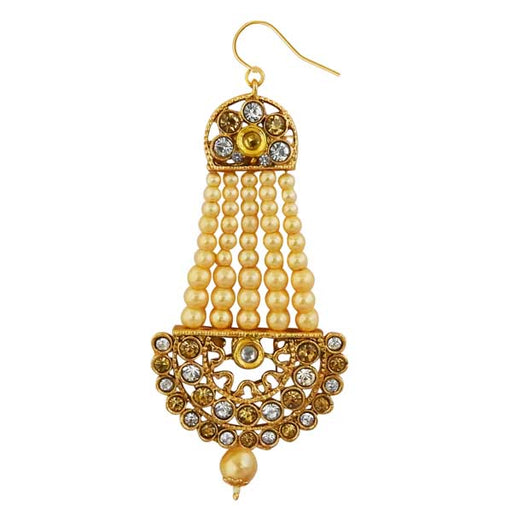 Kriaa Gold Plated Brown Austrian Stone Pasa