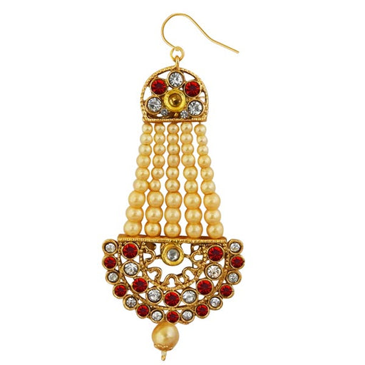 Kriaa Gold Plated Red Austrian Stone Pasa