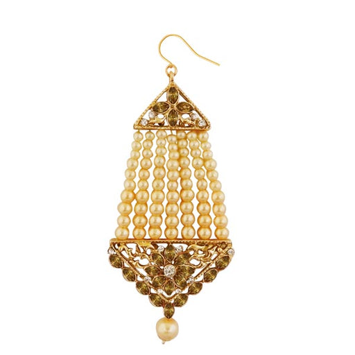 Kriaa Gold Plated Brown Kundan And Stone Pasa