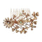 Apurva Pearls Rose Gold Plated Austrian Stone Floral Hair Brooch