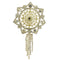Kriaa Floral Gold Plated Austrian Stone Saree Pin Brooch