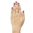 Urthn Gold Plated Five Finger Ring Set