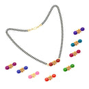 Kriaa Gold Plated Designer 9 Colors Changeable Mangalsutra